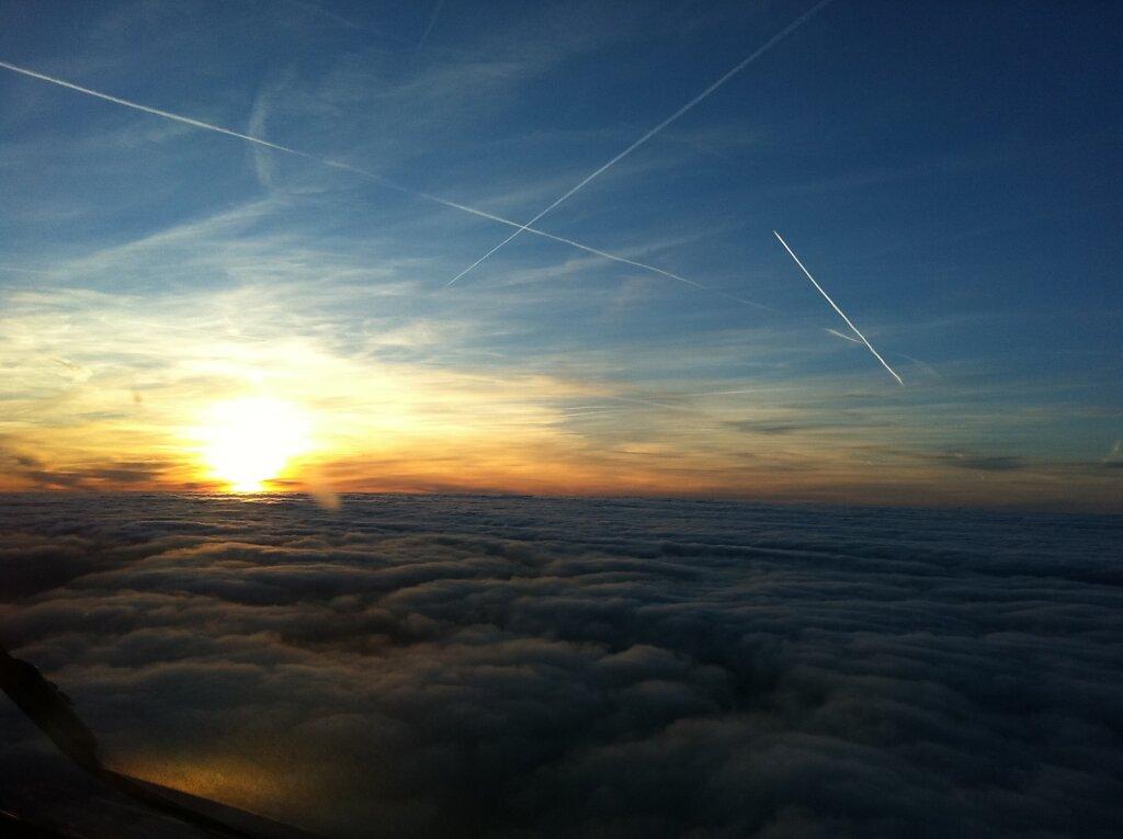 11.03.2011 München - Luxemburg | Sunset über Frankfurt