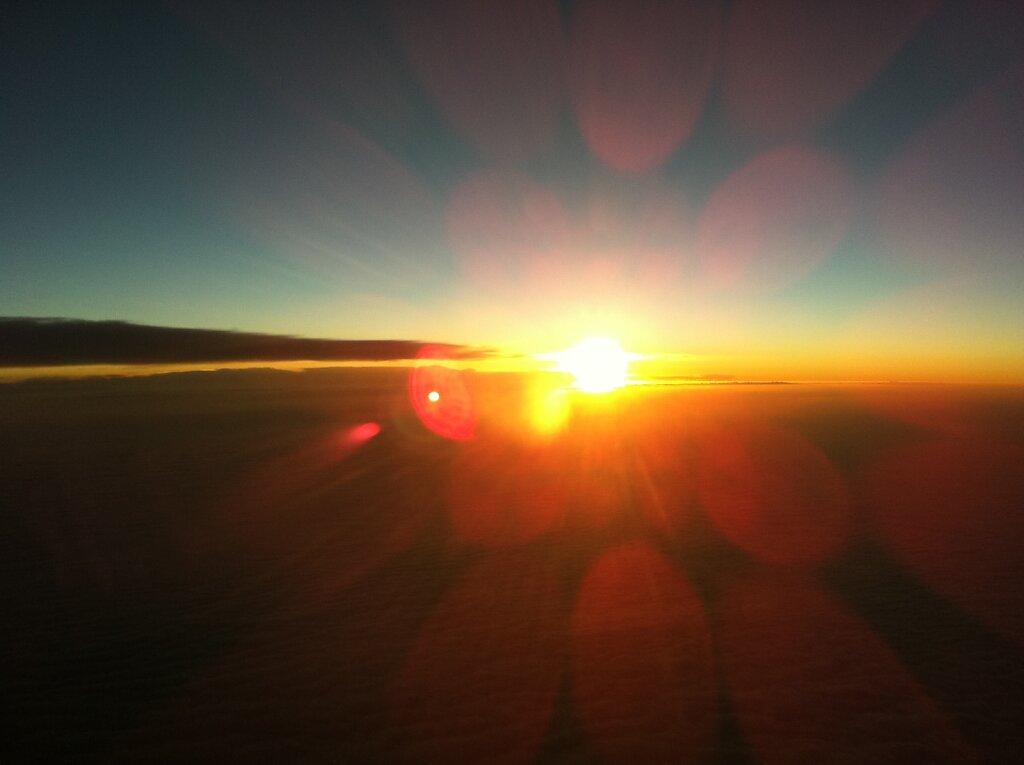 10.04.2011 München - Toulouse | Sunset 2 Minuten früher