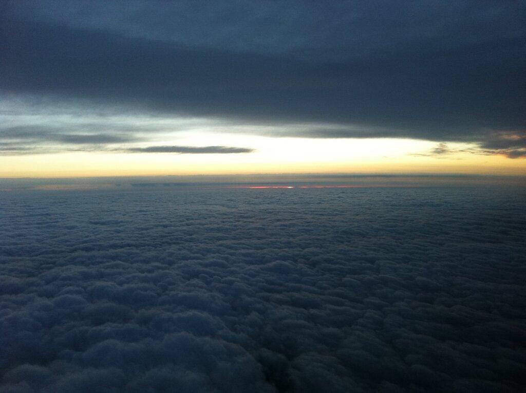 10.04.2011 München - Toulouse   Sunset 2 Minuten später