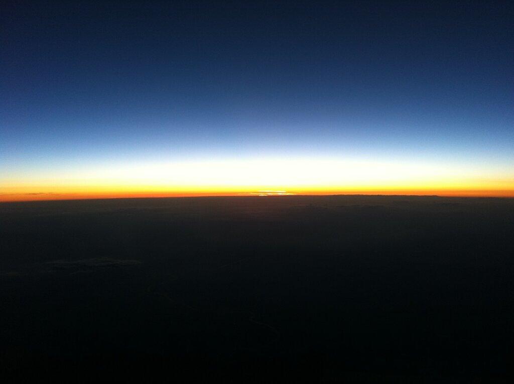 18.04.2011 München - Marseille   Sunset