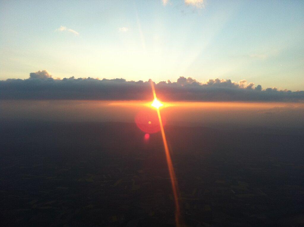 20.04.2011 München - Genf | Sunset 2 Minuten früher
