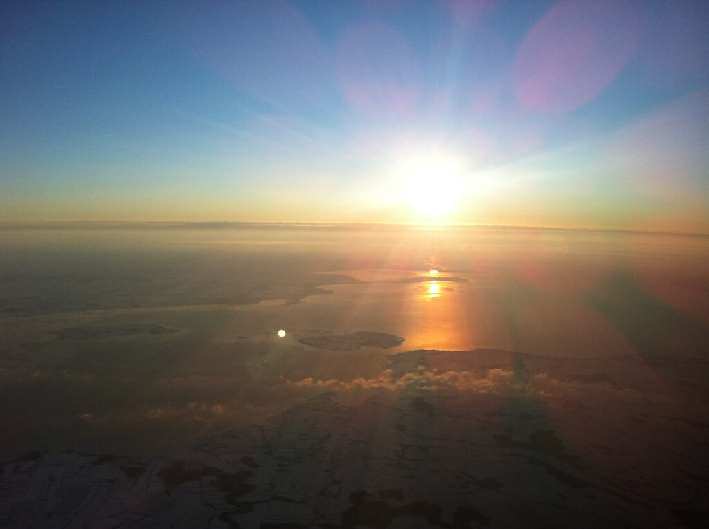 07.02.2012 Frankfurt - Billund | Sonnenaufgang über Dänemark