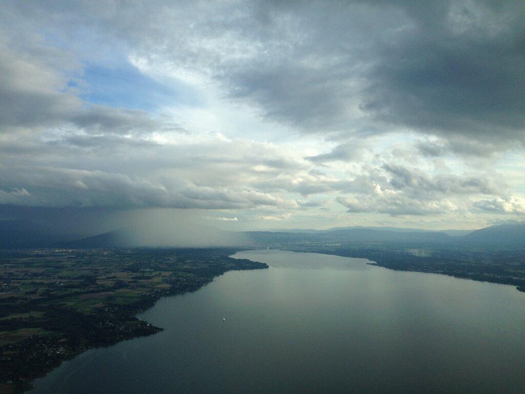 14.08.2014 München - Genf | Regenschauer über Genf