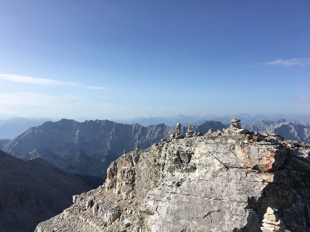 26.08.2017 Der Blick Richtung Süden in die Hauptalpen