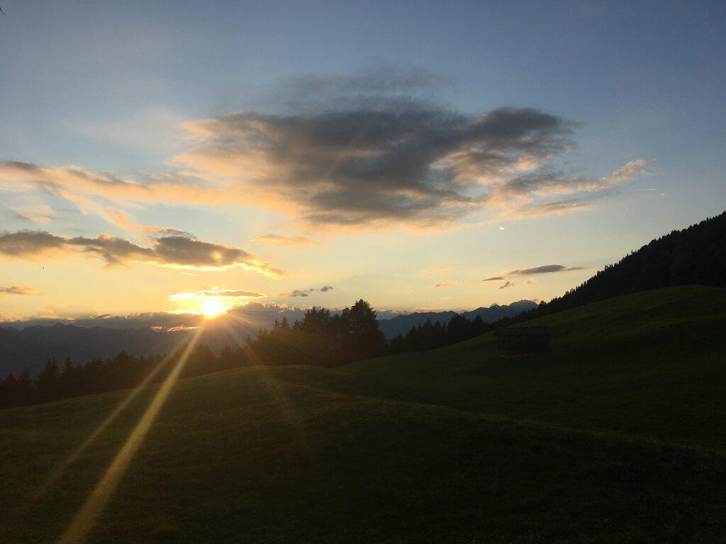 11.08.2018 Sonnenuntergang an der Kreuzwiesenhütte