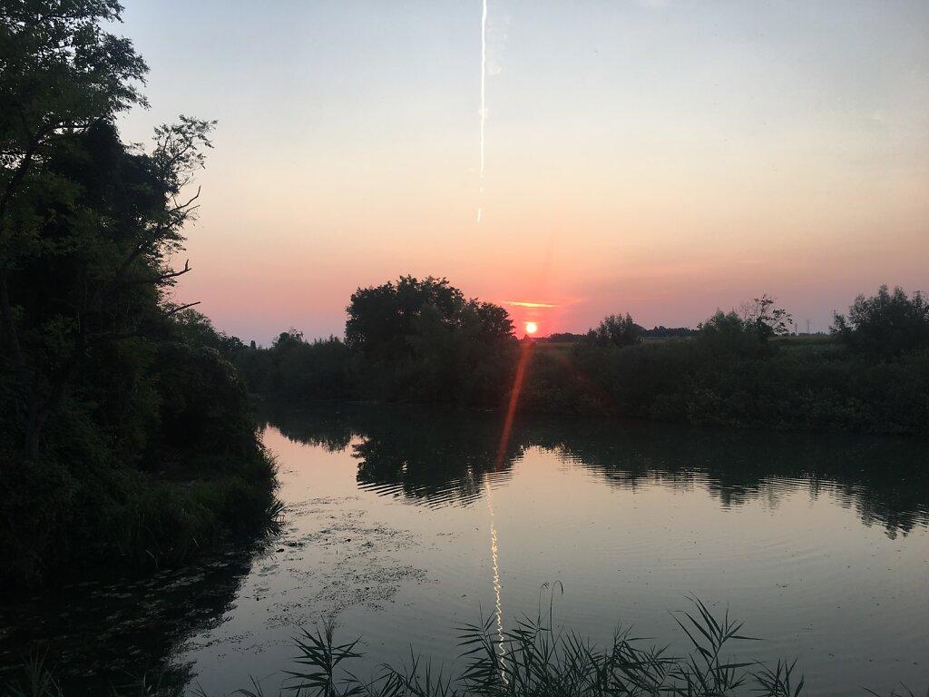 23.08.2018 Sonnenaufgang über der alten Piave
