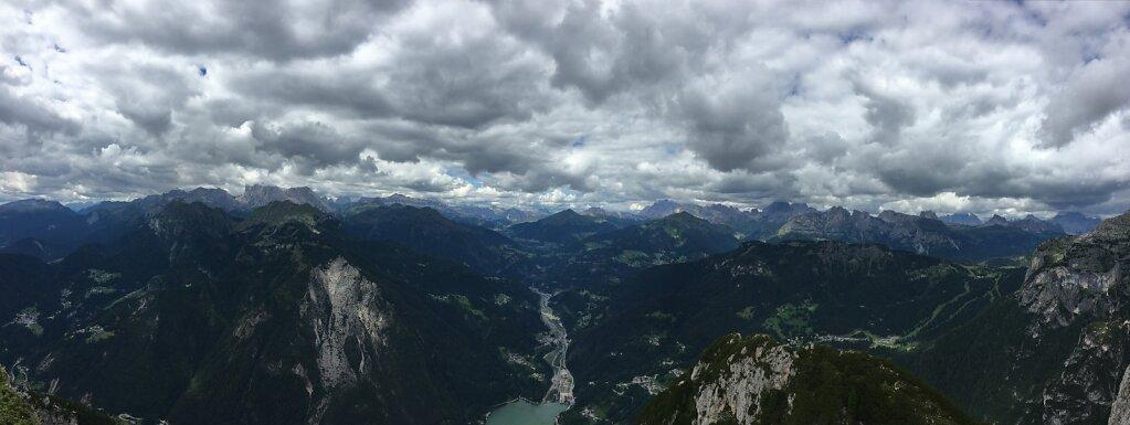 15.08.2018 Panorama vom Cime di Col Rean