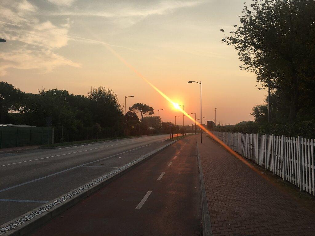 24.08.2018 Aufbruch am frühen Morgen nach Venedig