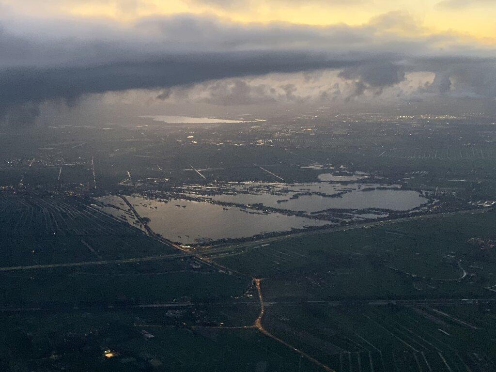 11.10.2020 München - Amsterdam | Sonnenuntergang über Holland