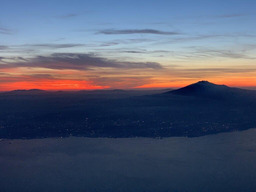 04.07.2021 München - Catania   Sonnenuntergang über Sizilien