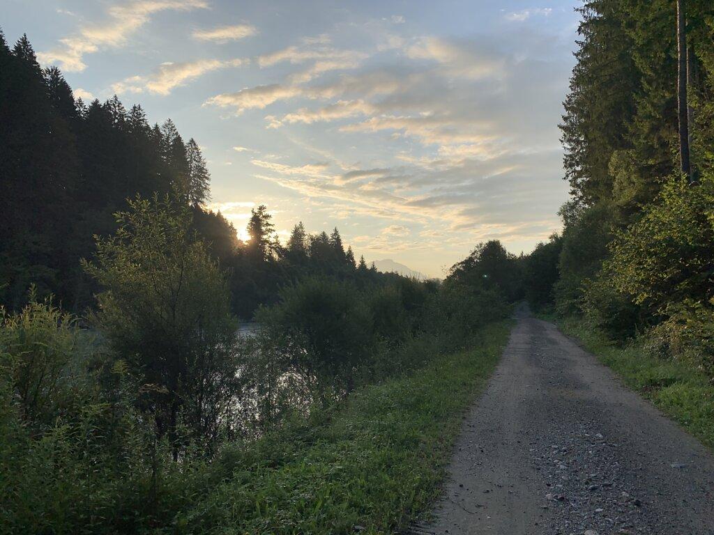 19.08.2021 Morgens entlang der Gail