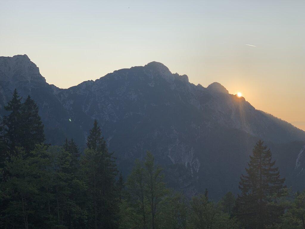 21.08.2021 Sonnenuntergang am Mangart