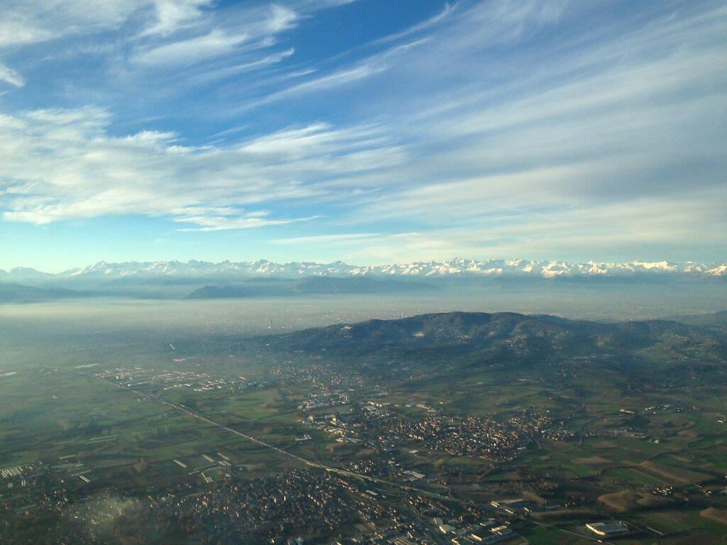 19.11.2014 München - Turin | Anflug auf Turin